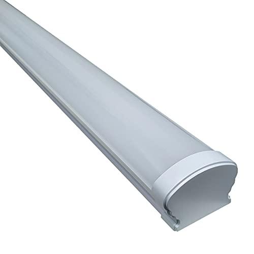 Luminaria LED TRIPROOF 120cm. 36w. IP65. Color Blanco Frio (6500k). Lampara Estanca para Humedad. Luz para Taller, baño, sotano, Garaje, Cuarto humedo.
