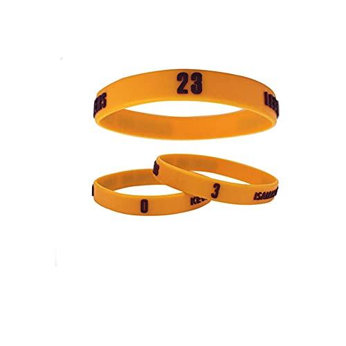YZDMC Exquisito Cavaliers 3 Piezas Pulsera de Silicona Estrella de Baloncesto Baloncesto Deportes Pulsera Deportiva Pulsera Tendencia461