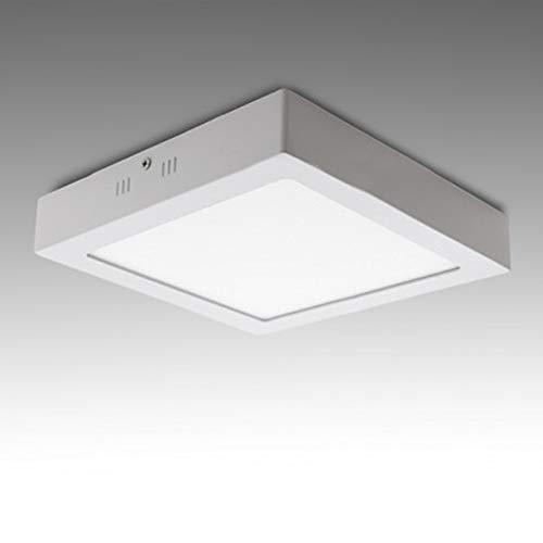 Plafón LED Cuadrado Superficie 174Mm 12W 800Lm iluminación techos escaleras pasillos (K3000)