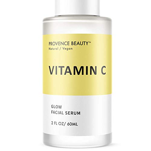Vitamin C Serum for Face - Brightening Facial and Anti Aging Treatment for a Youthful and Glowy Complexion - Hyaluronic Acid, Green Tea, Vitamin C and E -2 Fl Oz