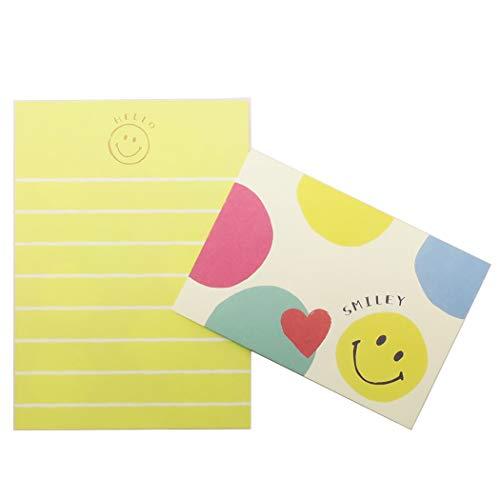 スマイリー[おてがみセット]ミニレターセット/Colorful Smile Smiley Face