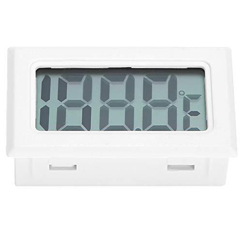 Astibym Wassertank-Thermometer, Aquarium-Thermometer Bienenstock-Thermometer Aquarium-Überwachungs-Thermometer Genauer Kunststoff-Zuchtbedarf LCD-Bildschirm für Zigarrenkisten