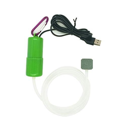 Xzbnwuviei Mini-USB-Luftpumpe, leise, tragbare Mini-USB-Aquarium-Luftpumpe für Sauerstoff, energiesparend, Kompressor, Zubehör für Wasserterrarium
