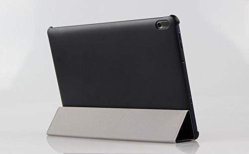Hannuo Funda de Cuero PU para A7600 Funda Protectora de Soporte para Tableta de 10,1 Pulgadas para Lenovo Idea Tab A10-70 A7600 A7600-h A7600-f Shell-Negro