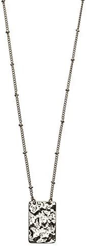 Timi of Sweden | Rectangle Medallion Ball Chain Necklace Gold | Minimalistic Scandinavian Design - A Delicate Jewelry Gift for Women/Girls