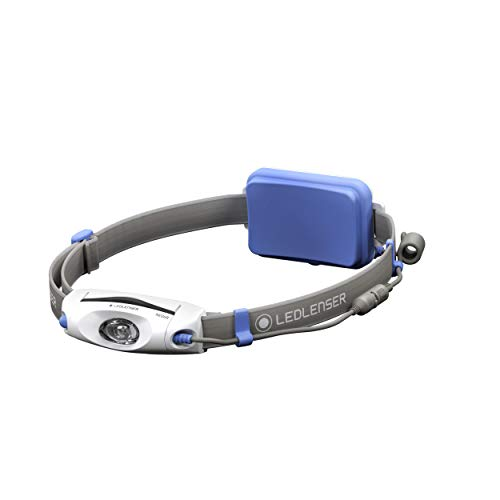 Led Lenser NEO6R - Linterna (Linterna con cinta para cabeza, Azul, Gris,...