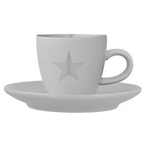 Bloomingville Espresso Tasse grau mit Stern