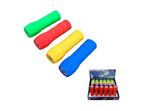 eDM Rubber Linterna Mini Goma 9 LED Colores Surtidos