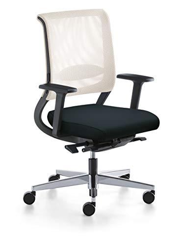 Sedus Netwin NW 100 - Oficina en casa, color blanco y negro