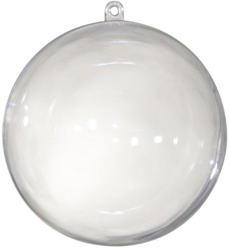 Lot de 5 boules en plastique transparent - 50 mm / 5 cm