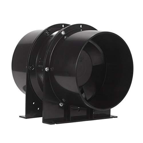 OPPEN Abluftventilator, 150 mm, leiser Axialfluss, Inline-Entlüfter, Schwarz