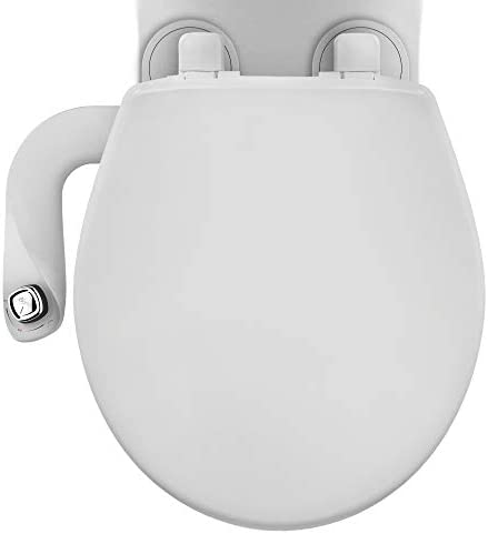 Bio Bidet SlimEdge Dual Nozzle Bidet Attachment with Bemis Round Toilet Seat Fresh Water Spray product image