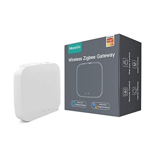 MoesGo Tuya ZigBee Smart Gateway Hub Home Bridge Inalambrico Smart Life geräte, para automatización del hogar, compatible los productos inteligentes Tuya ZigBee 3.0