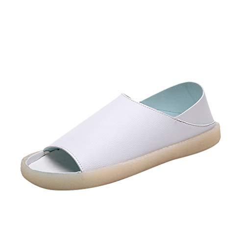Sayla Sandalias para Mujer Verano 2019 Moda Sexy Casual Cuña Tacon Plataformas Planas Romanas Chanclas Casa Playa Antideslizante Peep Toe Zapatillas De Fondo Suave