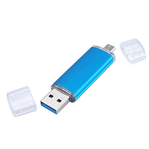 2 in 1 Micro USB Flash Drive 128GB 256GB 1TB 2TB Classic Style for Android Smart Phone Tablet Computer Player TV DVD Car Etc (128GB, Blue)