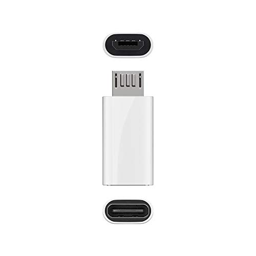 goobay 55550 Adaptador de Cable USB Micro B USB C Blanco - A