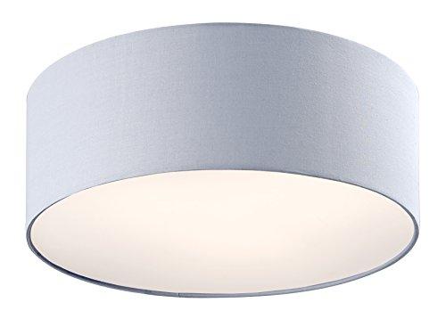 Lampex Textil Deckenleuchte Groß | Ø IGLO 50cm - Stoff Schirm | 3 - Flammig | (Grau)