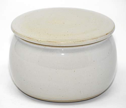 original französische wassergekühlte keramik butterdose, nie mehr harte butter zum frühstück. groß, für ca 250 g butter creme weiß B-G