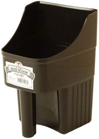 LITTLE GIANT Plastic Enclosed Feed Be super welcome Brown Scoop Dura Duty Fort Worth Mall Heavy