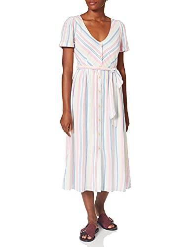 Springfield Vestido Midi Lino, Amarillo, 40 para Mujer