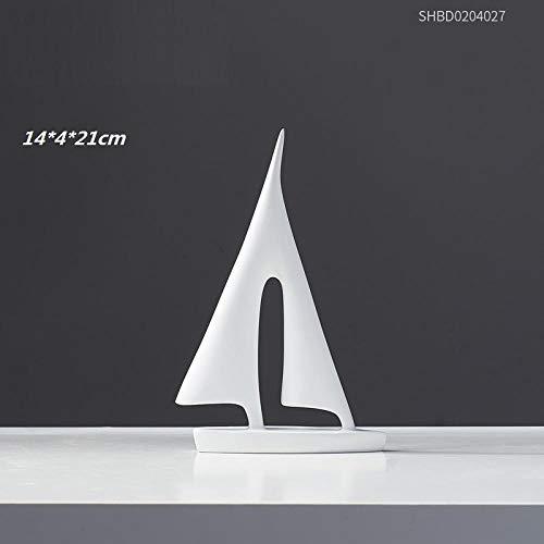 hacpigbb El Silencio Es Una Estatua De Oro Serie Abstracta Manualidades Decoración del Hogar Regalo Pintado A Mano De Resina Adecuado para El Estudio del Dormitorio Sala De Estar - Trompeta Blanca