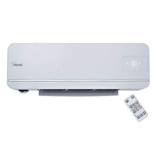 bimar AMA05 Termoventilatore da Parete ceramico, Elettrico a Basso Consumo 2000W con Telecomando e Programmatore settimanale Ideale per il bagno