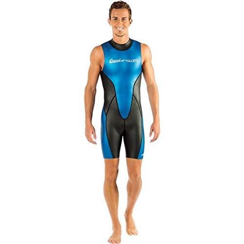 Cressi Glaros Shorty - Traje de natación para hombre, color negro / azul, talla S (2)