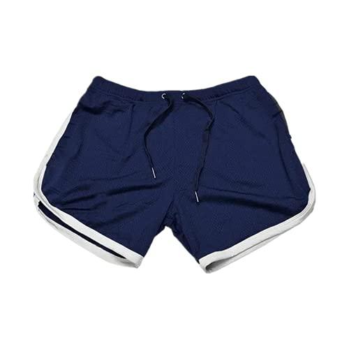 N\P Correr transpirable pantalones cortos de los hombres de secado rápido culturismo, azul marino, 54