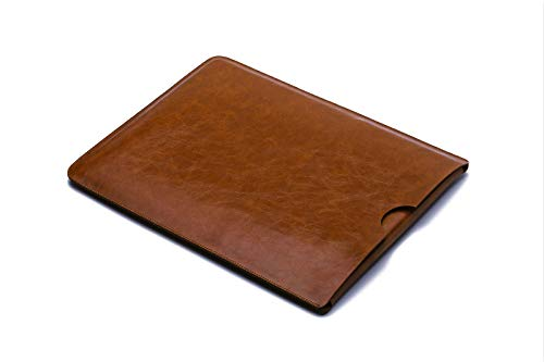 For Dell XPS 15 Microfiber Leather Laptop Sleeve Case Laptop Bag Slim Pouch Cover (Dark Brown)