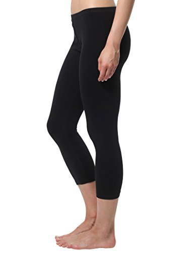 Berydale Damen Leggings Capri Matt, 100 DEN, Gr. XX-Large, Schwarz
