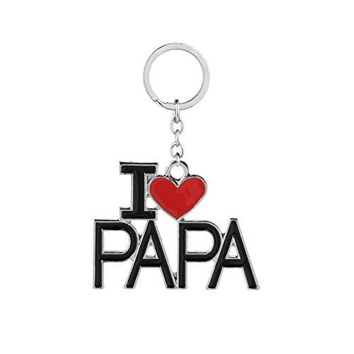 Yi-Achieve I Love PAPA - Llavero creativo para el día del padre, regalo de cumpleaños para el abuelo