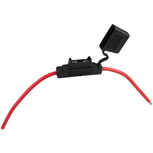 Parts Express in-line Maxi Blade Fuse Holder with 8 AWG Wire Leads