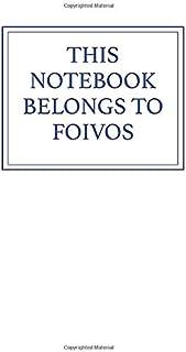 This Notebook Belongs to Foivos