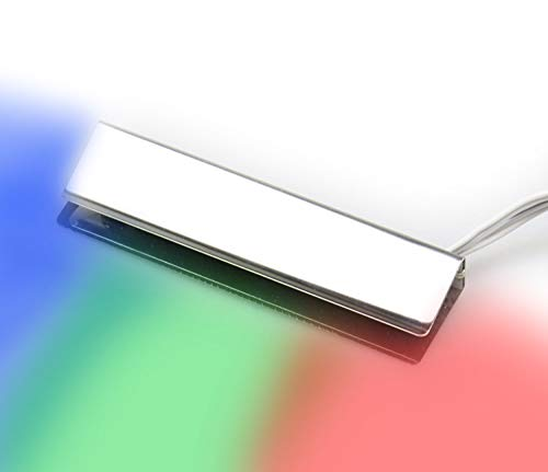 LED RGB Glaskantenbeleuchtung Glasbodenbeleuchtung Vitrinenbeleuchtung Clip Glas, Auswahl:2er SET