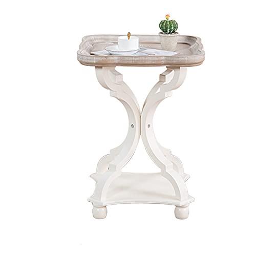 Tavolino da Tavolino Rotondo Tavolino da caffè Vecchio Tavolino da caffè con Rack di Stoccaggio Soggiorno Camera da Letto (Color : B)