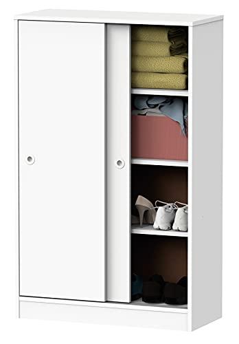 Armario bajo Auxiliar Color Blanco Soft 2 Puertas 2 estantes Estilo Moderno Mueble 120x74x33 cm