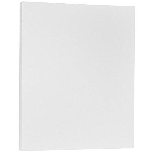 JAM PAPER Cartoncino Pergamena Traslucido - 215,9 x 279,4 mm Coverstok - 64gsm - Trasparente - 100 Fogli/Confezione