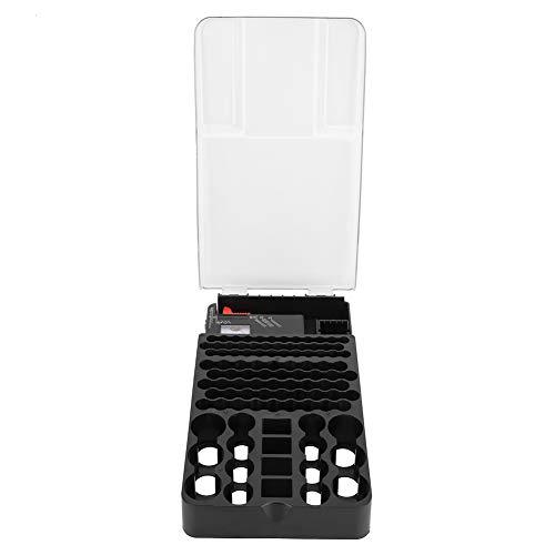 104 galler batteri förvaringsbox fodral behållare organiserare hållbar säker lagrar med pekartyp batteritestare (batterier ingår inte)
