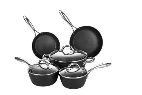 COOKER KING Nonstick Pots and Pans Set, Dishwasher and Oven Safe, 8 Piece...