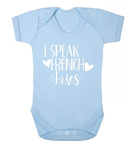 Flox Creative Baby Vest Speak French Frites - Bleu - Nouveau né