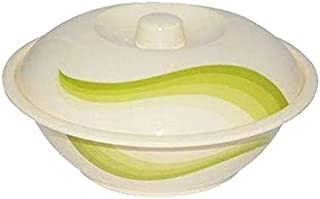 """Royalford RF8033 9"""" Melamine Ware Super Rays Bowl with Lid - Portable, Lightweight Bowl Breakfast Cereal Dessert Serving B..."""