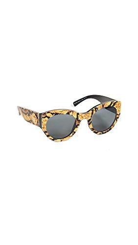 Versace 0VE4353 Gafas de sol, Baroque Yellow/Black, 51 para Mujer
