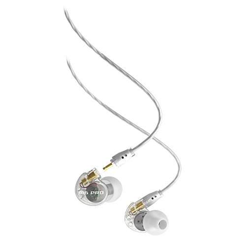 MEE audio Universal-Fit Noise-Isolating Musician's in-Ear Monitors with Detachable Cables (Smoke) (Model: M6PRO 1st Generation) (Discontinued)
