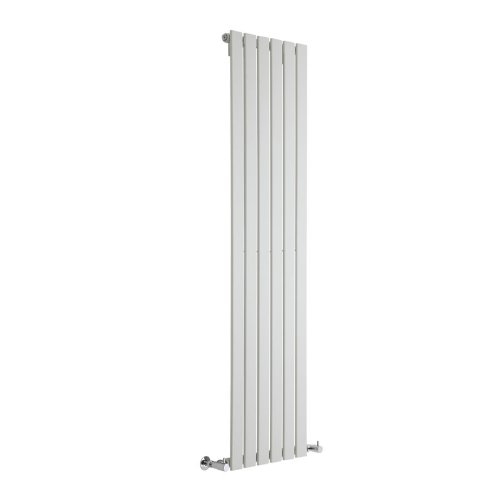 Hudson Reed Radiador de Diseño Moderno Vertical Delta - Radiador con Acabado Blanco - Paneles Planos - 1600 x 420mm - 879W - Calefacción de Lujo