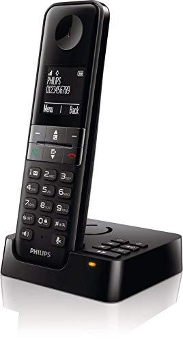 Philips D47 draadloze telefoon voor binnen, eenvoudig, met antwoordapparaat, zwart