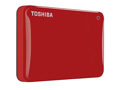 Toshiba HDTC810ER3AA Canvio Connect II HDD Esterno da 1TB, Rosso