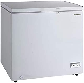 Sharp 190 Liters Free Standing Chest Freezer with Built in condenser, White, SCF-K190X-WH3 with 1 Year Brand warranty