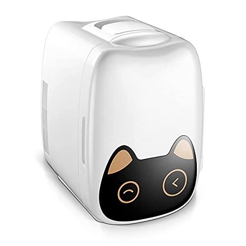 6L mini nevera, refrigeradores portátiles 2 en 1 con función de enfriamiento y calefacción 5DEG;C-65 DEG; C Freezer pequeño 23 x 27 x 34 cm para cuidado de la piel, oficina, dormitorio, nevera