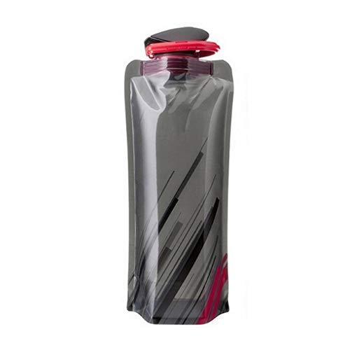 Centitenk Botella del Deporte de Agua de 700 ml Botella de plástico Plegable Deportes al Aire Libre Plegable Bolsa de Agua de la Taza Plegable