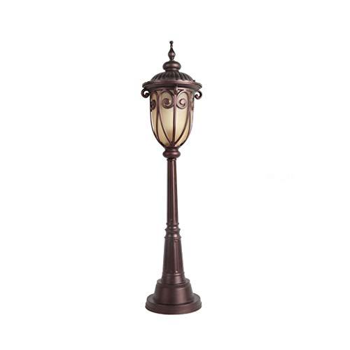 ZYLBDNB Lámpara de Piso Lámpara de pie de Aluminio for Exteriores, césped Impermeable, luz de Paisaje, Patio, Pasillo Lámparas de pie para salón (Color : Round Base)